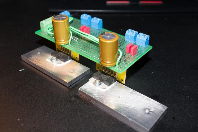 50W級オーディオアンプの制作 TDA7396編